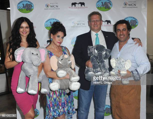 Natasha Blasick Angela Capri Tom Campbell and chef attend the Celebration for World Elephant Day Hosted By Elephants In My Backyard held at Trunk...