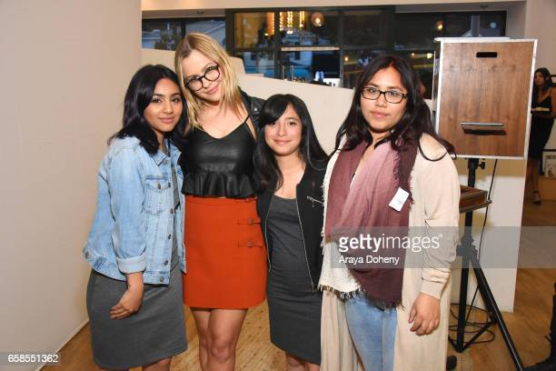 Natasha Bure and Dream Center girls attend Natasha Bure 'Let's Be Real' Los Angeles book launch party at Eden By Eden Sassoon on March 24 2017 in Los...