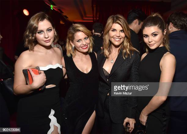 Natasha Bure Candice CameronBure Lori Loughlin and Isabella Giannulli attend the Netflix Golden Globes after party at Waldorf Astoria Beverly Hills...