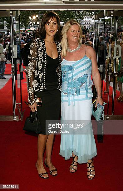 OUT*** Natasha Caine and half sister Nikki arrive at the European premiere of Batman Begins at the Odeon Leicester Square on June 12 2005 in London...