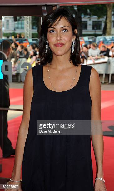 "Natasha Caine arrives at the European film premiere of ""The Dark Knight"" at the Odeon Leicester Square on July 21, 2008 in London, England."