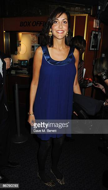 Natasha Caine arrives at the London film premiere of 'Is Anybody There?', at the Curzon Cinema Mayfair on April 29, 2009 in London, England.