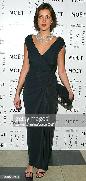 Natasha Caine Attends A 'Moet & Chandon Philip Treacy Fashion Tribute' At London'S Victoria And Albert Museum.