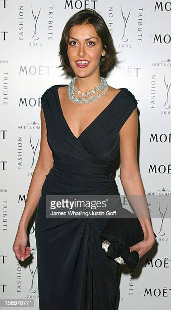 Natasha Caine Attends A 'Moet Chandon Philip Treacy Fashion Tribute' At London'S Victoria And Albert Museum