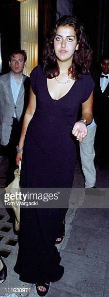 Natasha Caine during Michael Caine At his Daughter, Natasha's 21st Birthday Party - July 16, 1994 at Langan's Brasserie in LOndon, United Kingdom.