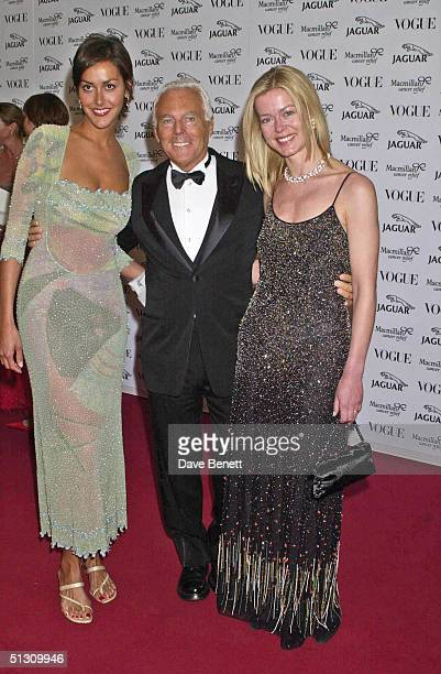 Natasha Caine Giorgio Armani and Lady Helen Taylor attend the Its Fashion Gala Evening in aid of Macmillan Cancer Relief hosted by Jaguar and Vogue...