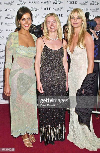 Natasha Caine Lady Helen Taylor and Gemma Kidd attend the Its Fashion Gala Evening in aid of Macmillan Cancer Relief hosted by Jaguar and Vogue on...