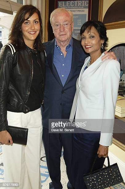 "Natasha Caine, Michael Caine and Shakira Caine attend the Grand Classics VIP screening of ""Casablanca"" at The Electric Cinema on May 24, 2005 in..."