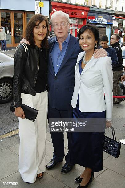 Natasha Caine Michael Caine and Shakira Caine attend the Grand Classics VIP screening of Casablanca at The Electric Cinema on May 24 2005 in London...