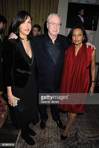Natasha Caine, Michael Caine and Shakira Caine attend the Harry Brown European Film Premiere Afterparty on November 10, 2009 in London, England.