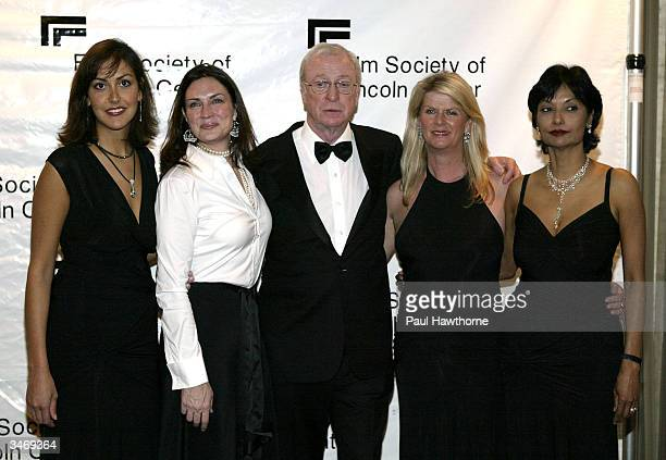 Natasha Caine Robin Jonas actor Sir Michael Caine Nikki Caine and Michael's wife Shakira Caine attend the Film Society Of Lincoln Centers 2004 Gala...