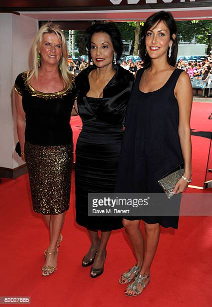 "Natasha Caine, Shakira Baksh and Dominique Caine arrive at the European film premiere of ""The Dark Knight"" at the Odeon Leicester Square on July 21,..."