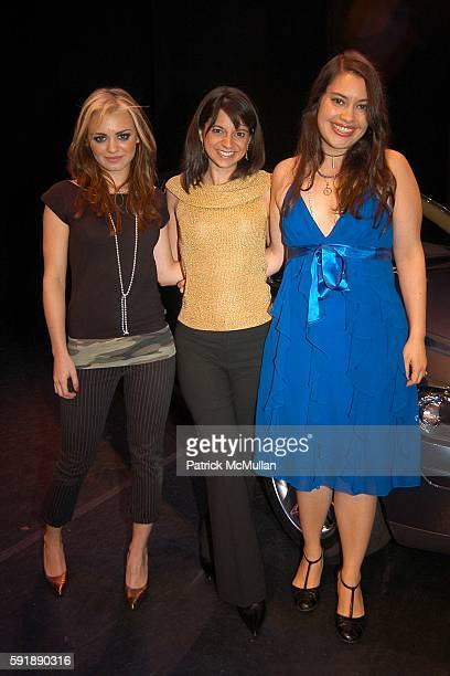 JD Natasha Cathy Areu and Vanessa Aspillaga attend Groundbreaking Latina in Leadership Awards at Hudson Theatre on October 11 2005 in New York City