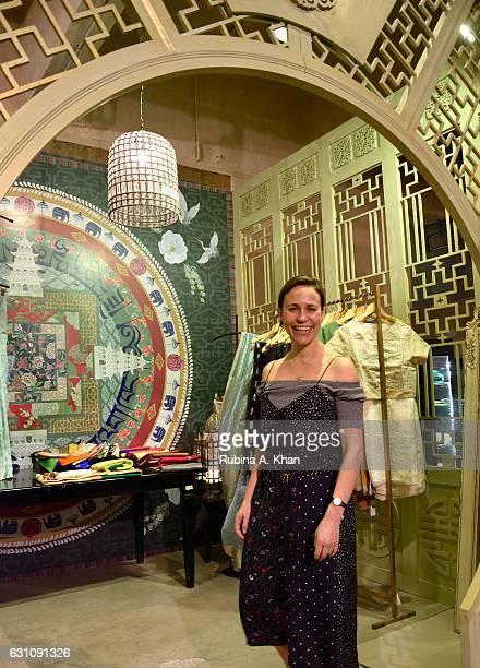 Natasha Cowan Executive Coordinator to Suzy Menkes International Vogue Editor at Good Earth Lower Parel on January 6 2017 in Mumbai India