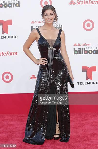 Natasha Dominguez arrives at Billboard Latin Music Awards 2013 at Bank United Center on April 25 2013 in Miami Florida