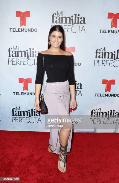 Natasha Dominguez arrives to Telemundo's Mi Familia Perfecta Wrap Party at Pisco y Nazca on May 1 2018 in Doral Florida