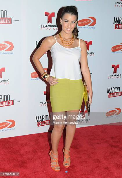 Natasha Dominguez attends Telemundo's Marido El Alquiler Press Event at Westin Diplomat on September 3 2013 in Hollywood Florida