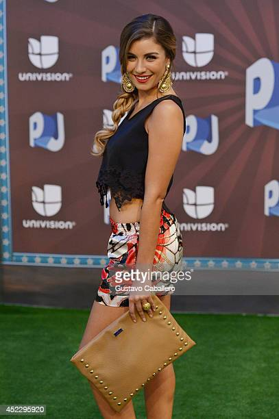 Natasha Dominguez attends the Premios Juventud 2014 at The BankUnited Center on July 17 2014 in Coral Gables Florida