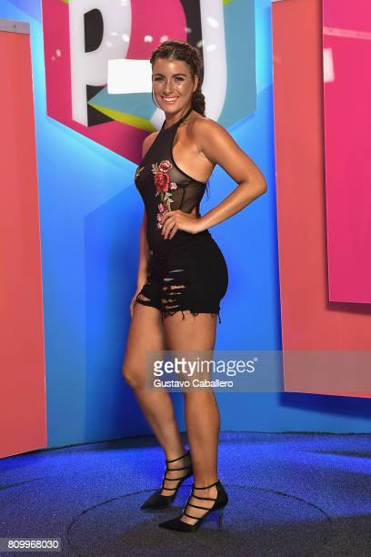Natasha Dominguez attends the Univision's Premios Juventud 2017 Celebrates The Hottest Musical Artists And Young Latinos ChangeMakers at Watsco...