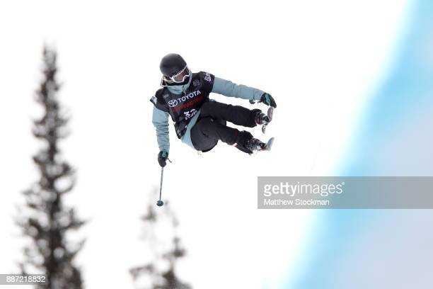 Natasha Drury of New Zealand competes in a qualifying round of the FIS Freeski World Cup 2018 Ladies Ski Halfpipe during the Toyota US Grand Prix on...