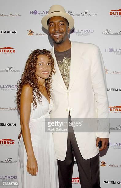 Natasha Duffy and Former Basketball player John Salley arrives at DesignCare 2007 held on July 21 2007 in Malibu California
