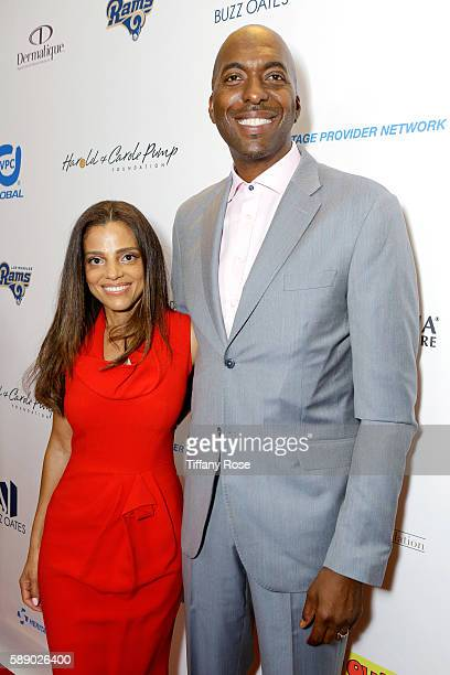 Natasha Duffy and former NBA player John Salley attend the 16th Annual Harold Carole Pump Foundation Gala at The Beverly Hilton Hotel on August 12...