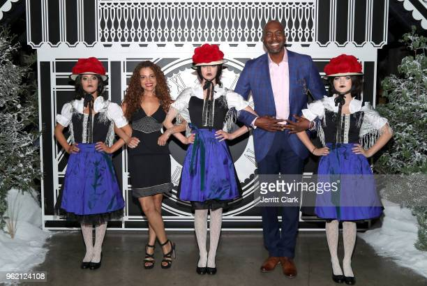 Natasha Duffy and John Salley attend Gaggenau Restaurant 1683 Honoring Operation Smile on May 23 2018 in Los Angeles California