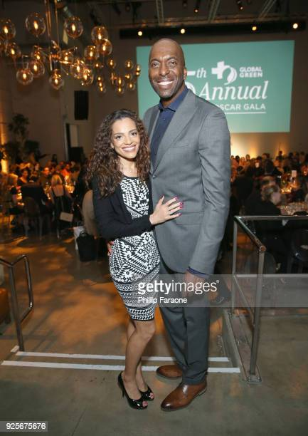 Natasha Duffy and John Salley attend the 15th Annual Global Green PreOscar Gala on February 28 2018 in Los Angeles California