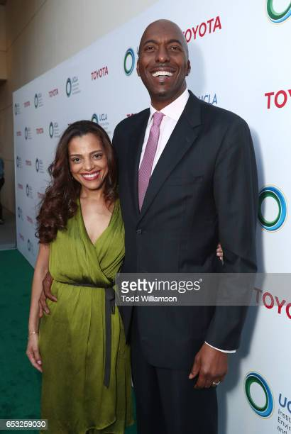 Natasha Duffy and John Salley attend the UCLA Institute Of The Environment And Sustainability Celebrates Innovators For A Healthy Planet on March 13...