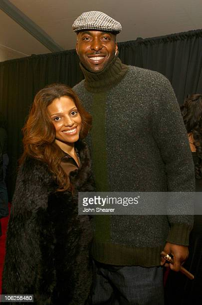 Natasha Duffy and John Salley during 2007 GM Style Backstage at GM Pavilion in Detroit Michigan United States