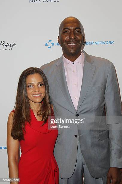 Natasha Duffy and Retired NBA players John Salley attends 16th Annual Harold And Carole Pump Foundation Gala Arrivals at The Beverly Hilton Hotel on...