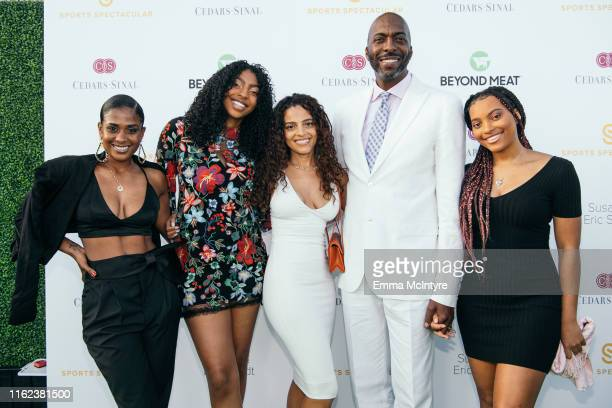 Natasha Duffy John Salley and family attend the CedarsSinai and Sports Spectacular's 34th Annual Gala at The Compound on July 15 2019 in Inglewood...