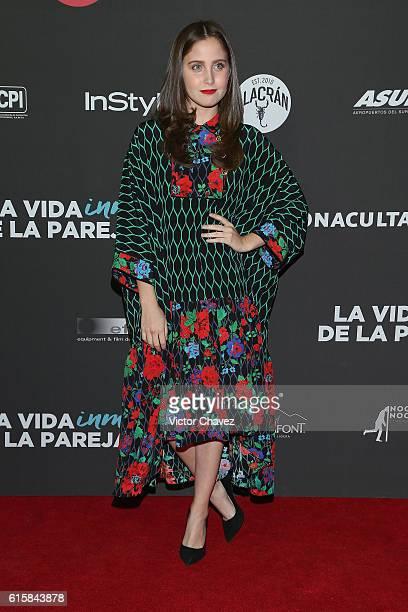 Natasha Dupeyron attends La Vida Inmoral De La Pareja Ideal Mexico City premiere at Teatro Metropolitan on October 19 2016 in Mexico City Mexico