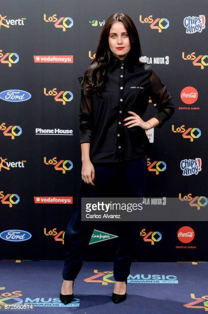 Natasha Dupeyron attends 'Los 40 Music Awards' photocall at WiZink Center on November 10 2017 in Madrid Spain
