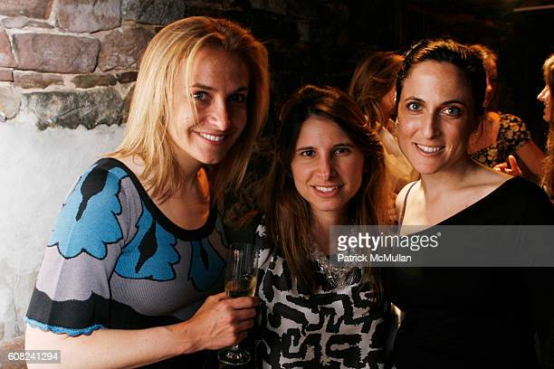 Natasha Ellis Amanda Freeman and Shandi Levy attend MARIE CLAIRE and LAUREN BUSH Host an Evening of Photography to Benefit The United Nations World...