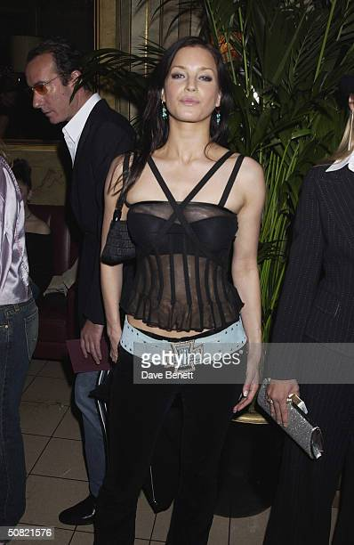Natasha Elms attends the MAC Cosmetics Charity Party to support Aids in London in honour of Mary J Blige at The Criterion Restaurant on April 23 2002...
