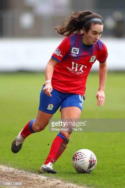 Natasha Fenton of Blackburn Rovers controls the ball during the Barclays FA Women's Championship match between London City Lionesses and Blackburn...
