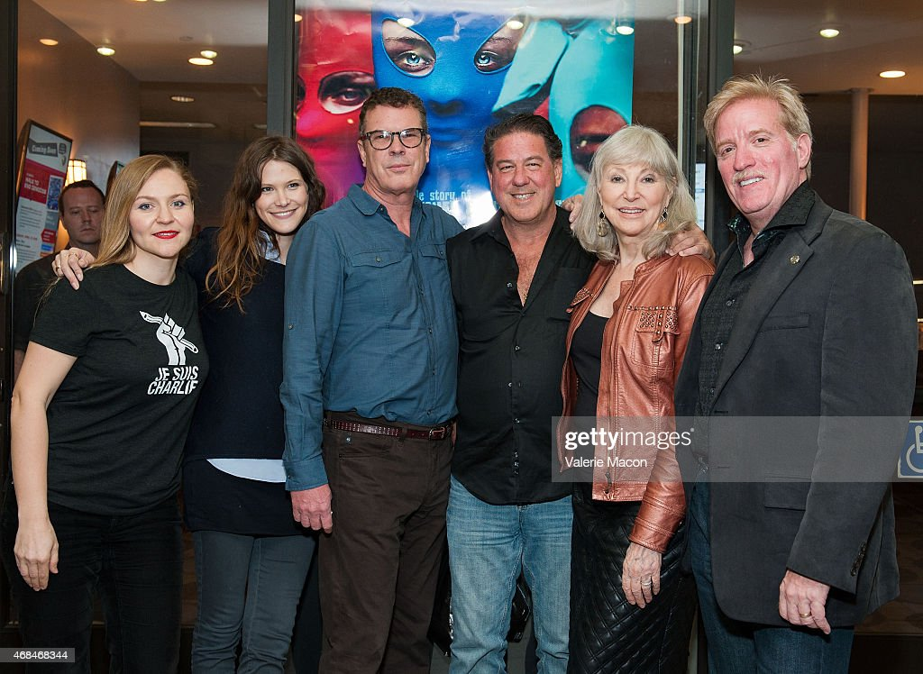 Natasha Fissiak, Claire Chubbuck, Lyndon Chubbuck, Terry McKinnes, Carole Keeney Harrington and Robert Reese attend the Los Angeles Premiere And Screening 'Pussy Riot: The Movement' at Laemmle Music Hall on April 2, 2015 in Beverly Hills, California.