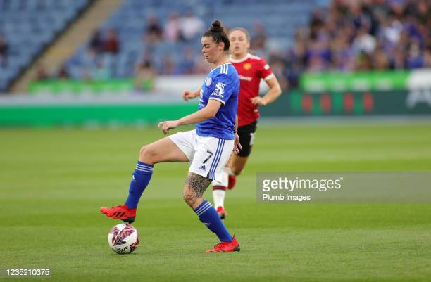 Natasha Flint of Leicester City Women during the Barclays FA Women's Super League match between Leicester City Women and Manchester United Women at...