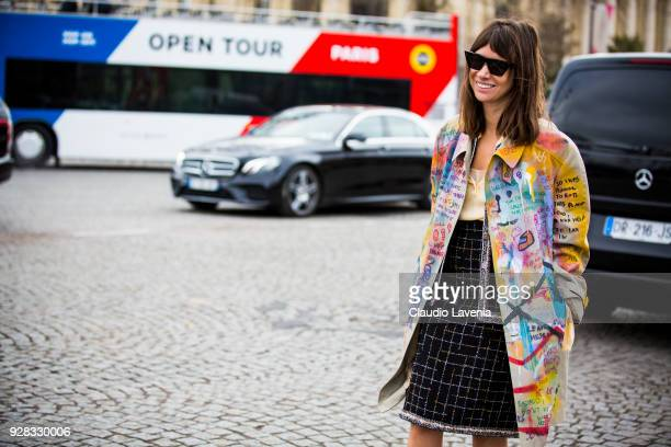 Natasha Goldenberg is seen in the streets of Paris after the Chanel show during Paris Fashion Week Womenswear Fall/Winter 2018/2019 on March 6 2018...