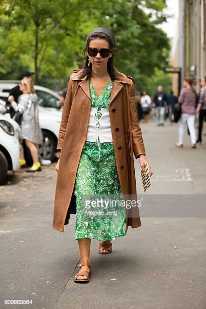Natasha Goldenberg wears Prada during Milan Fashion Week Spring/Summer 2017 on September 22 2016 in Milan Italy