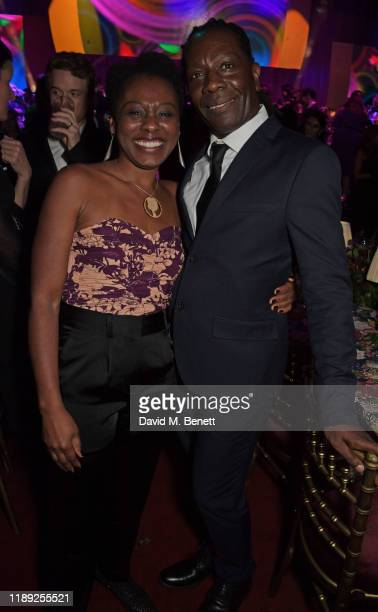 Natasha Gordon attends the after party of the 65th Evening Standard Theatre Awards in association with Michael Kors at the London Coliseum on...