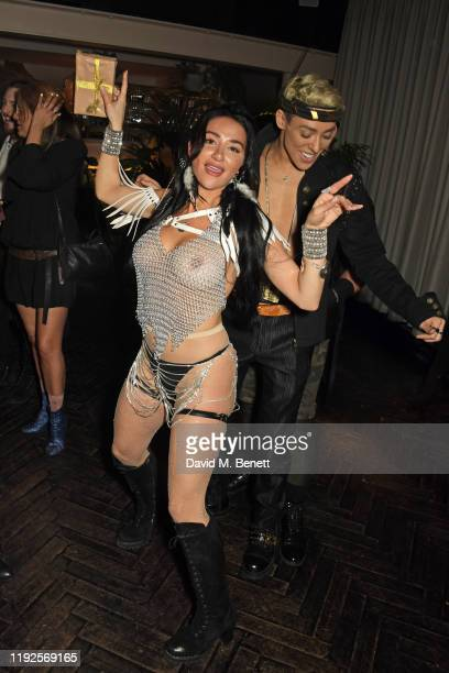 Natasha Grano attends her birthday party at The Mandrake Hotel on January 8 2020 in London England