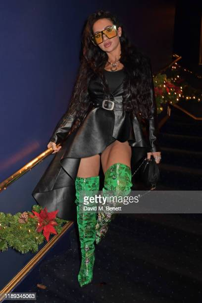Natasha Grano attends Tramp's Christmas Party in celebration of their 50th Anniversary on December 17 2019 in London England