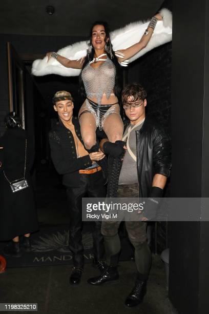 Natasha Grano celebrates her birthday party at The Mandrake Hotel on January 08 2020 in London England