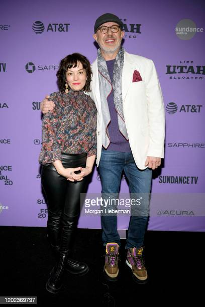 Natasha Gregson Wagner and Director Laurent Bouzereau attends the 2020 Sundance Film Festival Natalie Wood What Remains Behind Premiere at The Marc...