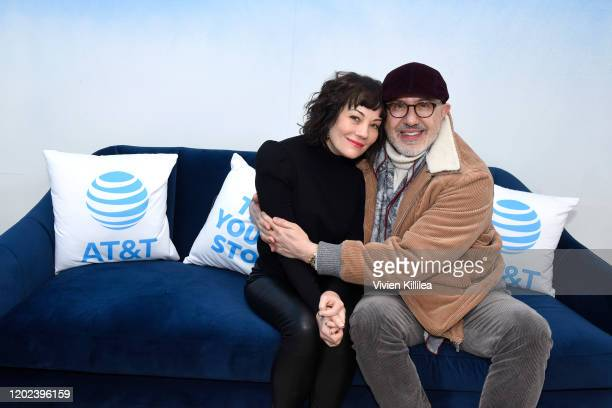 Natasha Gregson Wagner and Laurent Bouzereau of Natalie Wood What Remains Behind stop by WarnerMedia Lodge Elevating Storytelling with ATT during...