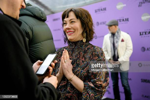 Natasha Gregson Wagner attends the 2020 Sundance Film Festival Natalie Wood What Remains Behind Premiere at The Marc Theatre on January 27 2020 in...