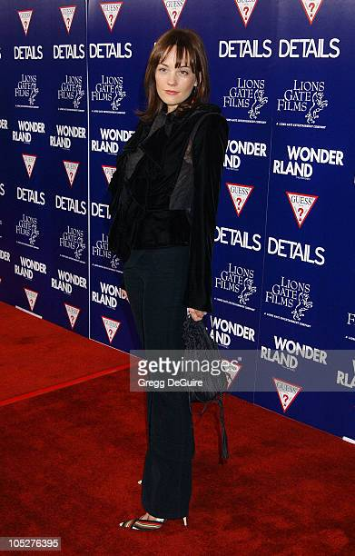 Natasha Gregson Wagner during Wonderland Premiere hosted by DETAILS GUESS Arrivals at Grauman's Chinese Theatre in Hollywood California United States