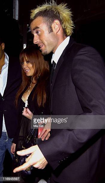 Natasha Hamilton and Fran Cosgrove during Celebrity Sightings at the Kabaret Club November 22 2005 at Kabaret Club in London Great Britain
